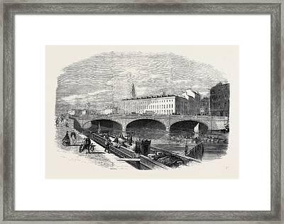 St. Patricks Bridge Cork Opened On Thursday Framed Print by English School