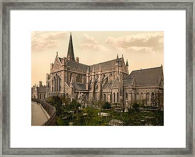 St Patrick's Cathedral - Dublin Ireland 1897 Framed Print by Mountain Dreams