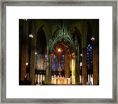 St. Patrick's Cathedral In New York City Framed Print by Dan Sproul