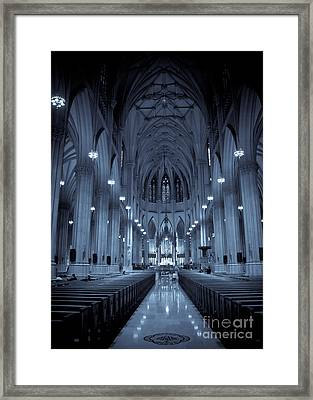 St. Patricks Cathedral Framed Print by Ken Marsh