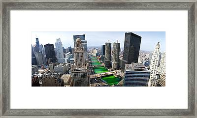 St. Patricks Day Chicago Il Usa Framed Print by Panoramic Images