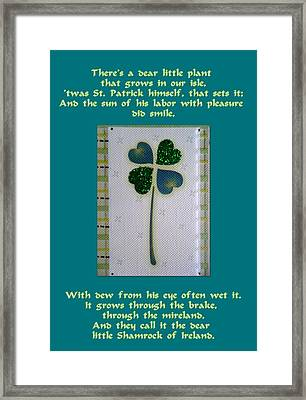 St. Patrick's Day Greetings Framed Print by The Creative Minds Art and Photography