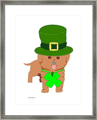 St. Patrick's Dog Framed Print