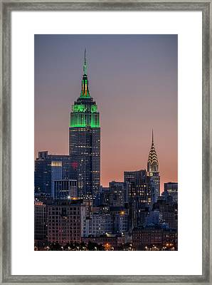St Patrick's Day Postcard Framed Print