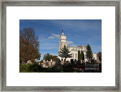 St. Paul Church In Village Framed Print by Bill Bachmann