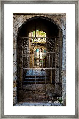 St Paul Courtyard Framed Print by Inge Johnsson