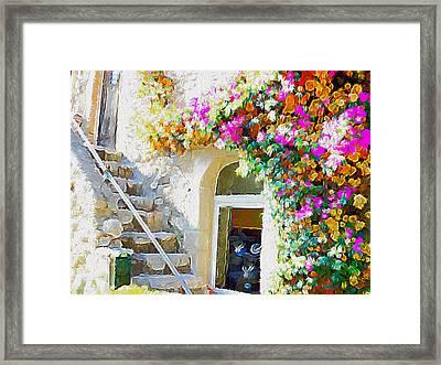 St Paul De Vence Framed Print