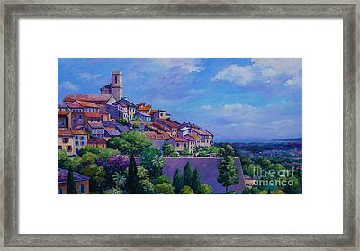 St. Paul De Vence Panoramic Framed Print