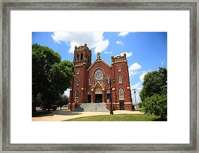 Hamel Illinois - St. Paul's Framed Print by Frank Romeo