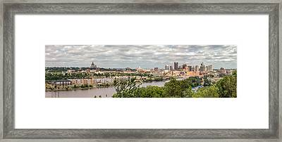 St Paul Skyline 2005 Framed Print