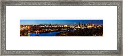 St Paul Skyline At Dusk Framed Print