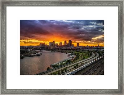 St. Paul Sunset Framed Print