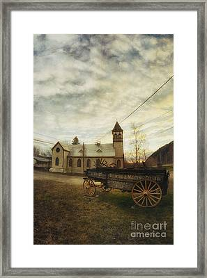 St. Pauls Anglican Church With Wagon  Framed Print