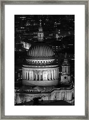 London St Pauls At Night Framed Print