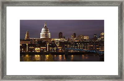 St Paul's At Night Framed Print by Nigel Kenny