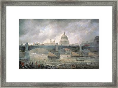 St. Paul's Cathedral From The Southwark Bank Framed Print by Richard Willis