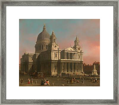 St Paul's Cathedral In London Framed Print by Mountain Dreams