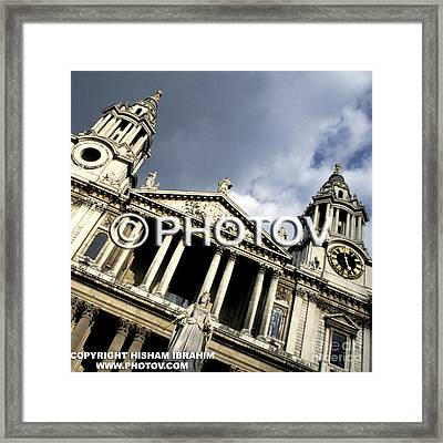St. Paul's Cathedral - Queen Anne's Statue - London - Uk Framed Print