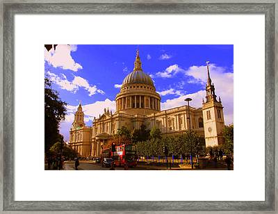 St Pauls Catherdral Framed Print by Donald Turner