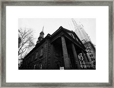 St Pauls Chapel Ground Zero New York City Framed Print by Joe Fox
