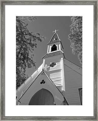 St. Paul's Church Port Townsend In B W Framed Print
