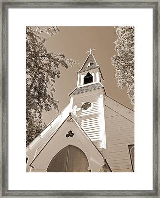 St. Paul's Church Port Townsend In Sepia Framed Print