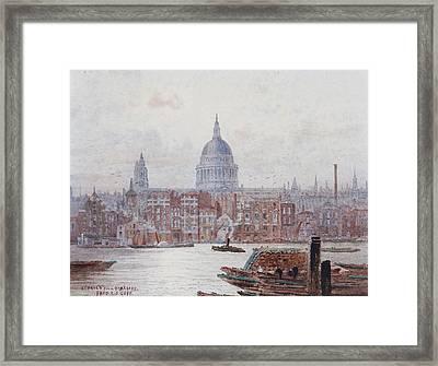 St Pauls From Bankside Framed Print by MotionAge Designs