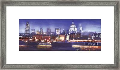 St Paul's Landscape River Framed Print