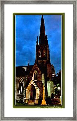 St. Paul's Presbyterian Church Front View Framed Print by Danielle  Parent