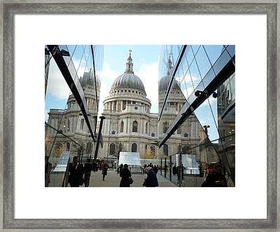 St Paul's Reflected Framed Print