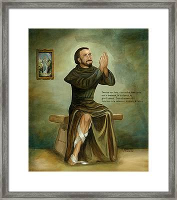 St Peregrine Framed Print by Cecilia Brendel