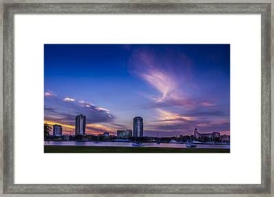 St. Pete At Sunset Framed Print by Marvin Spates