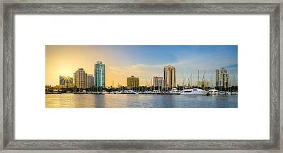 St Pete Sun Framed Print by Clay Townsend