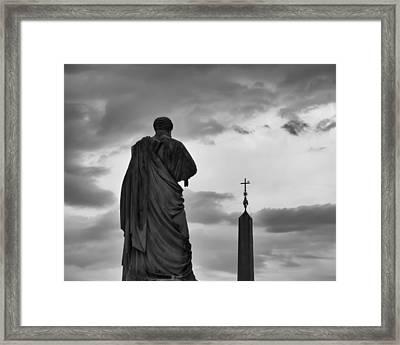 St. Peter And The Obelisk Framed Print