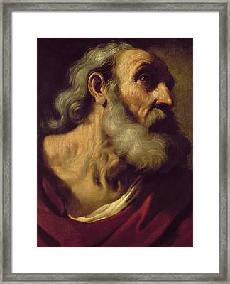 St. Peter Framed Print by Guercino