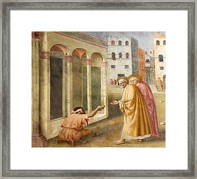 St. Peter Healing The Cripple. Framed Print by Sheila Terry