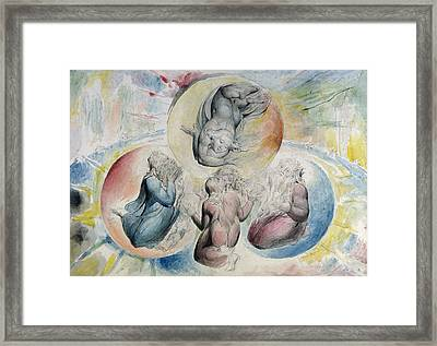 St. Peter St. James Beatrice And Dante Framed Print by William Blake