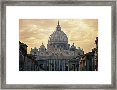 St Peter's Afternoon Glow Framed Print by Joan Carroll
