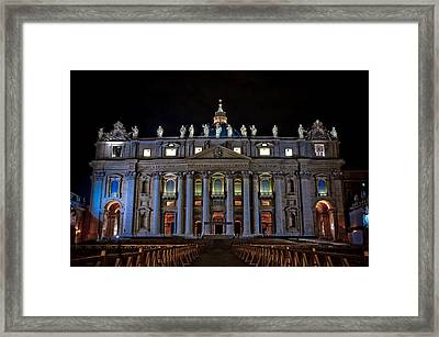 St Peter's At Night Framed Print
