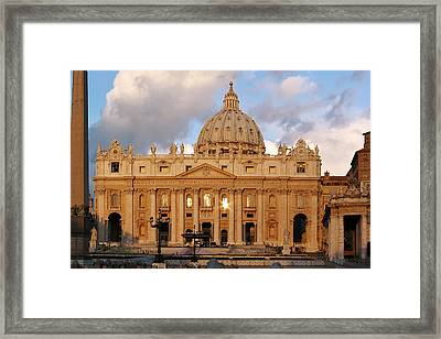 St. Peters Basilica Framed Print by Adam Romanowicz