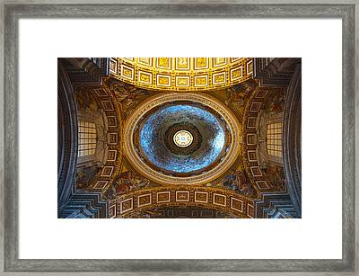 Framed Print featuring the photograph St. Peter's Basilica by Brad Brizek