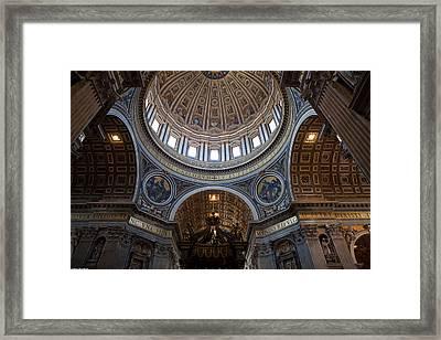 St. Peters Basilica Framed Print by Corey Sheehan