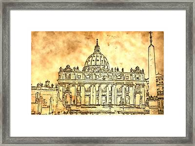 St. Peter's Basilica Framed Print by Dan Sproul