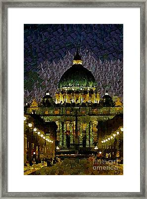 St. Peter's Basilica Framed Print by Dragica  Micki Fortuna