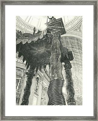 St. Peters Basilica  Framed Print by Norman Bean
