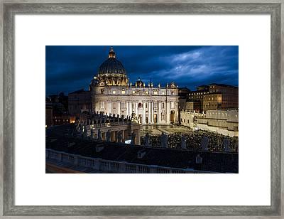 St Peters Basilica Rome Framed Print