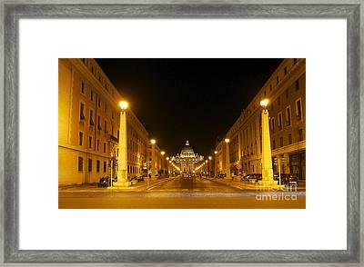 St. Peter's Basilica. Via Della Conziliazione. Rome Framed Print by Bernard Jaubert