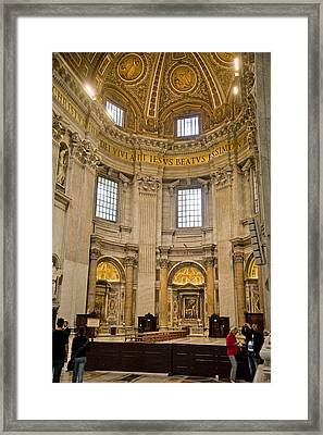 St Peter's Cathedral Framed Print by Cliff C Morris Jr