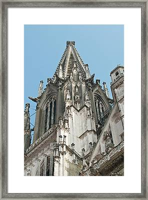 St Peter's Cathedral In Regensburg Framed Print