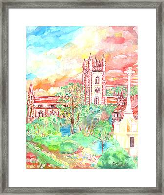 St Peter's Church - St Albans Framed Print by Giovanni Caputo